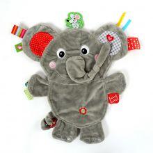 Snuttefilt med taggies – Elefant