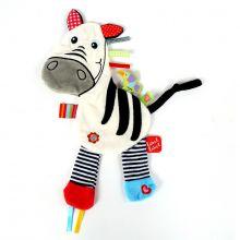 Snuttefilt med taggies – Zebra