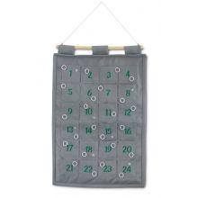 1-24 paketkalender med ringar till upphängning, gr