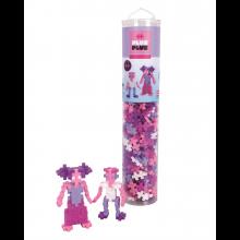 Plus-Plus i rör - Glitter Mix, 240 st.