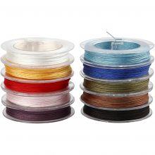 Polyestersnören (blandade färger) 50 m, 10 st.