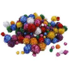 Pomponger m. glitter, 62 g.