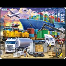 Larsen Pussel - Containerhamn, 37 bitar