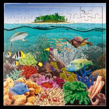 Interaktivt pussel m. 81 bitar - Korallrev