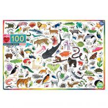 Pussel - Världens djur, 100 bitar