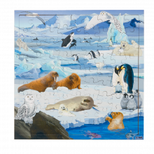 Interaktivt pussel m. 81 bitar - Polardjur
