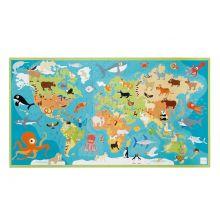 Pusselspel till golvet, 100 bitar – Världens djur