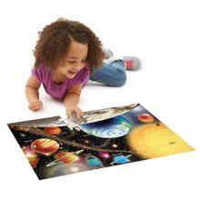 Pussel till golvet - 48 bitar Solsystemet
