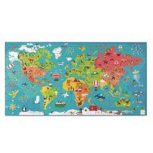 Golvpussel - Världskarta, 150 bitar