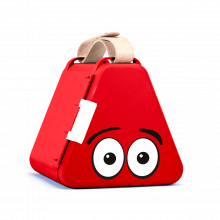 Teebee förvaringslåda inkl. ritutrustning - Röd