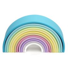 Regnbåge i Silikon - Pastellfärger, 12 delar
