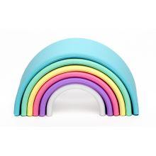 Regnbåge i Silikon - Pastellfärger, 6 delar