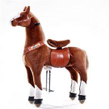 Rid själv - Häst, brun med vita ben, large