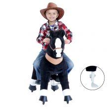 Rid själv - Häst, svart med vit nos, medium