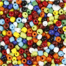 Rocaipärlor 4 mm - Grundfärger, 1 kg.