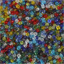 Rocaipärlor 4mm i diameter – transparanta, 1000 gr