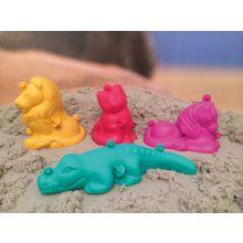 Sandformar - 3D-figurer, set med 4 st.