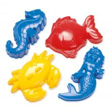 Sandformar - Havsdjur, 4 st.