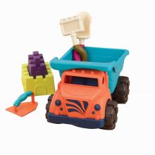 Sandlek - Lastbil m. tillbehör, 6 delar