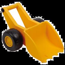 Sandlek - Grävskopa på hjul