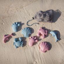 Sandformar i silikon - Nordiska färger, 4 st.