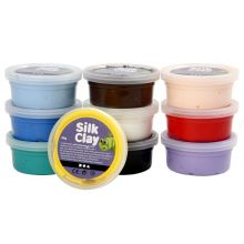 Silk Clay 10 x 40 g - Grundfärger