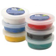 Silk Clay 6 x 14 g - Grundfärger