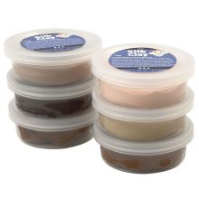 Silk Clay 6 x 14 g - Beige och bruna färger