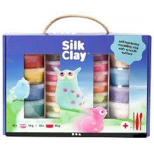 Silk Clay i presentförpackning, 28 burkar + verkty