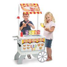 Kiosk på hjul m. glass och korv