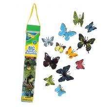 Fjärilar i rör - 18 st.