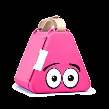 Teebee förvaringslåda inkl. ritutrustning - Rosa