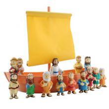 Bibliskt figurset - Båten från Galileen