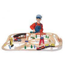 Järnvägsset i trä | 132 delar