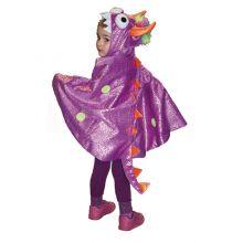 Utklädning - jacka, lila drake