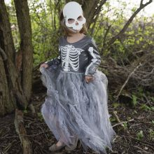 Utklädning - Skelettklänning med mask, 5-8 år