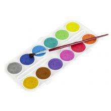 Vattenfärger, pärlemor - 12 st.