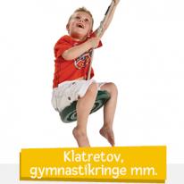 Klätterrep, gymnastikringar m.m.
